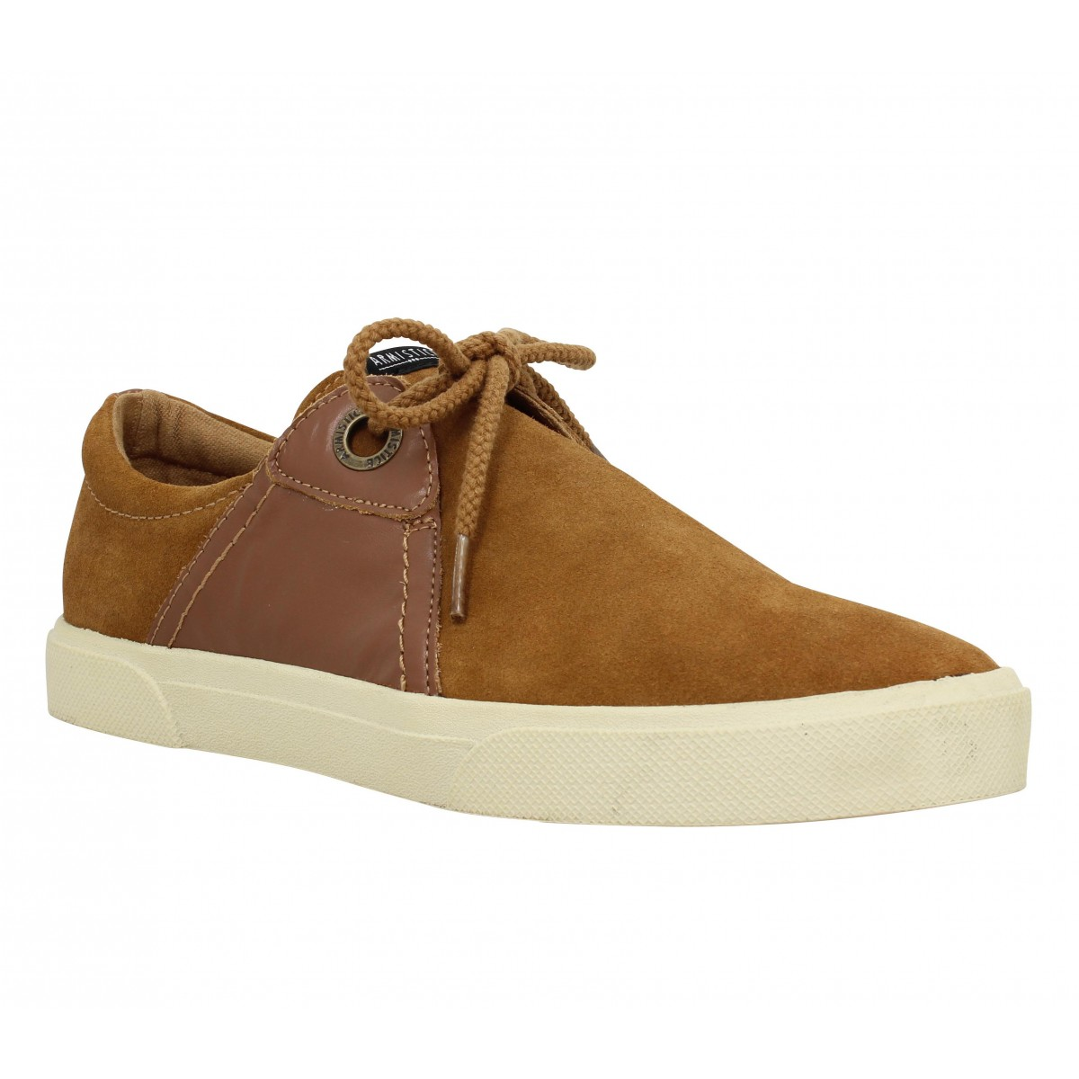 Baskets ARMISTICE Hope One velours + cuir Homme Camel