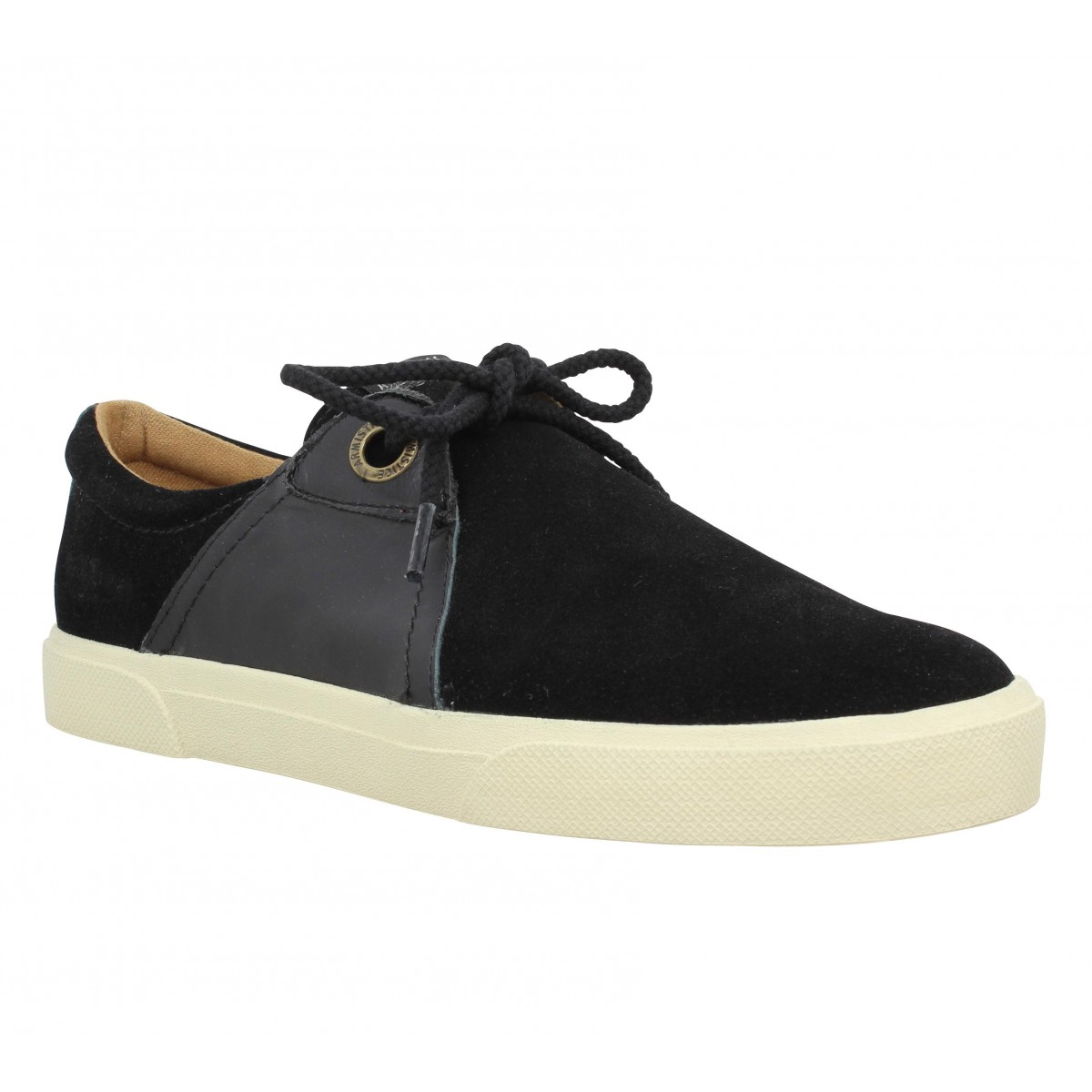 Baskets ARMISTICE Hope One velours + cuir Homme Noir