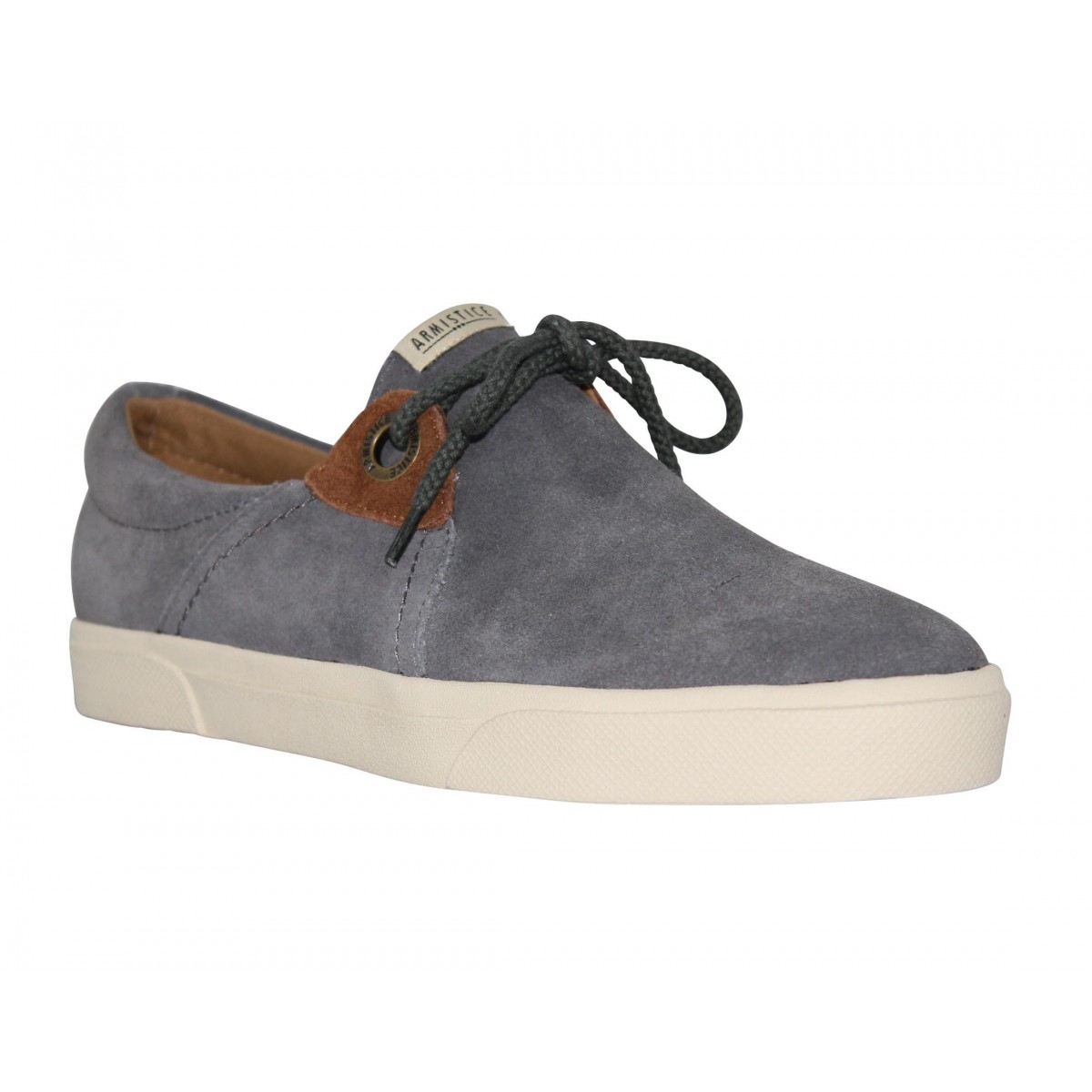 Baskets ARMISTICE Hope One velours Homme Gris
