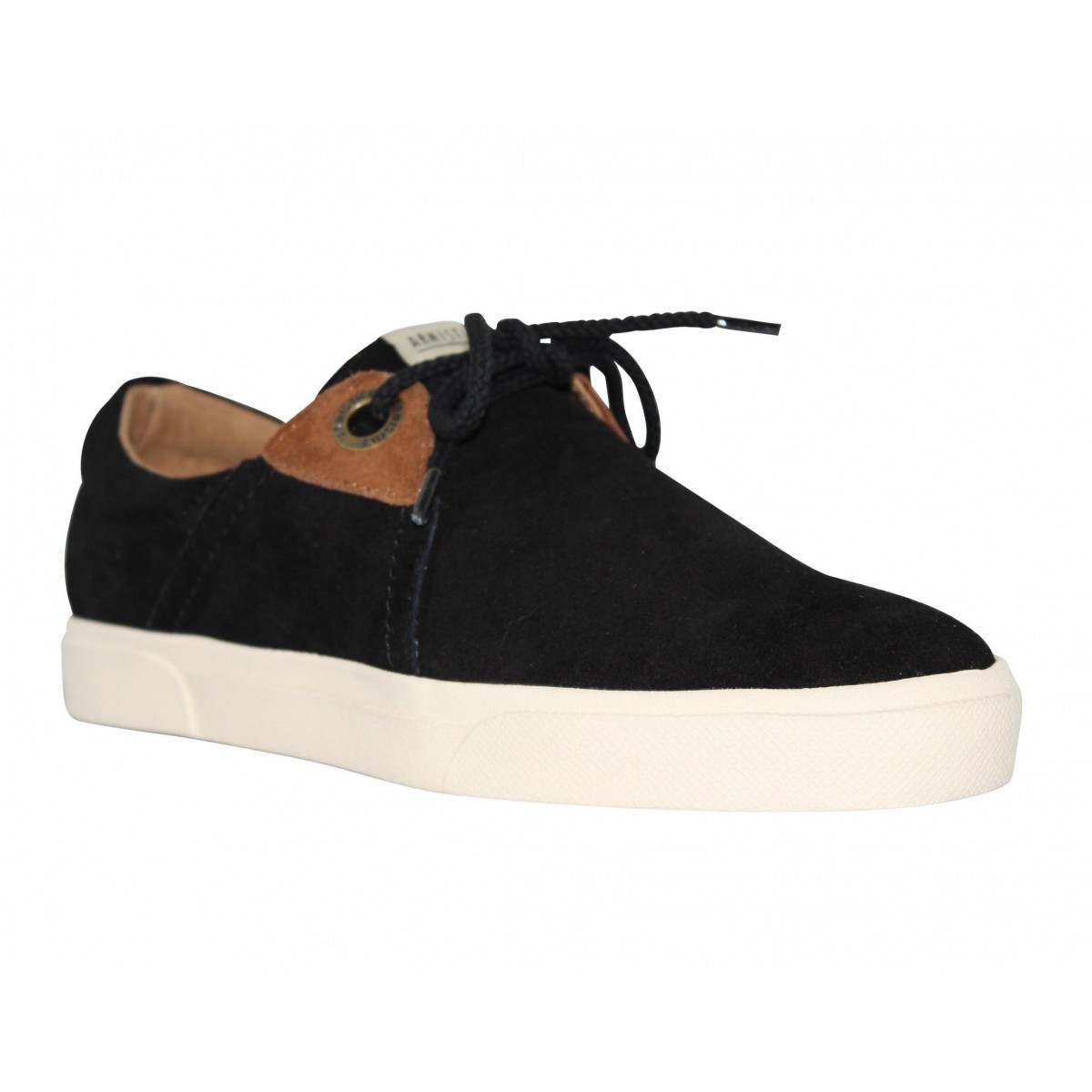 Baskets ARMISTICE Hope One velours Homme Noir
