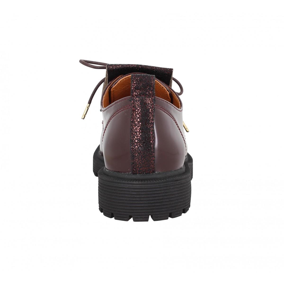 Chaussures à lacets ARMISTICE Rock Derby vernis Femme BordeauxArmistice 7GNuBi