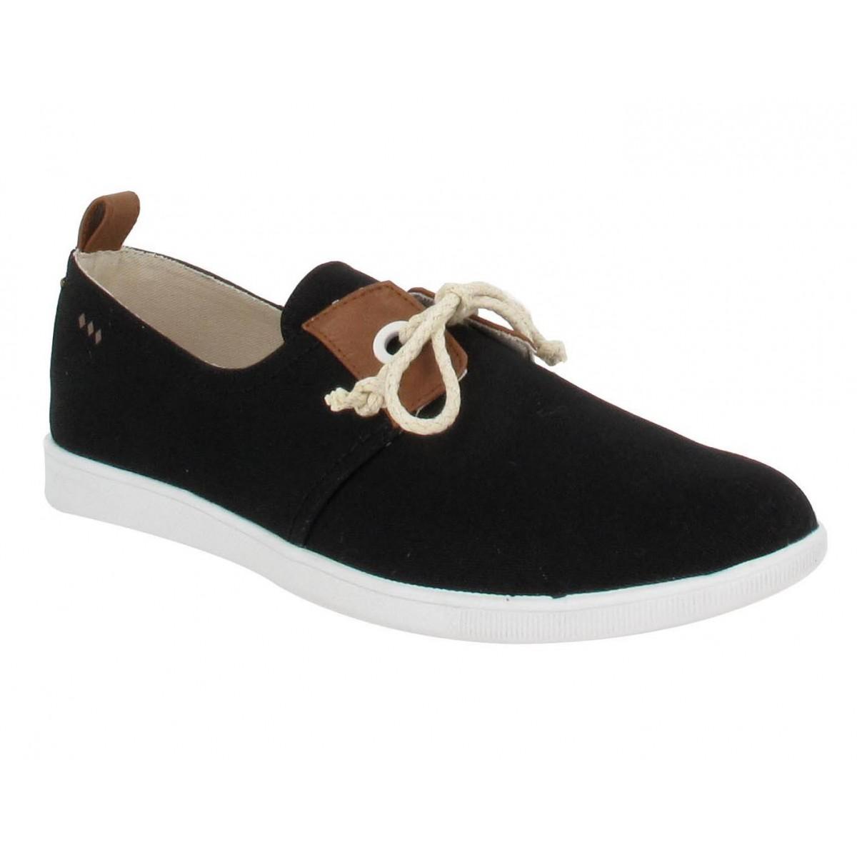 armistice stone 1 toile femme noir fanny chaussures. Black Bedroom Furniture Sets. Home Design Ideas