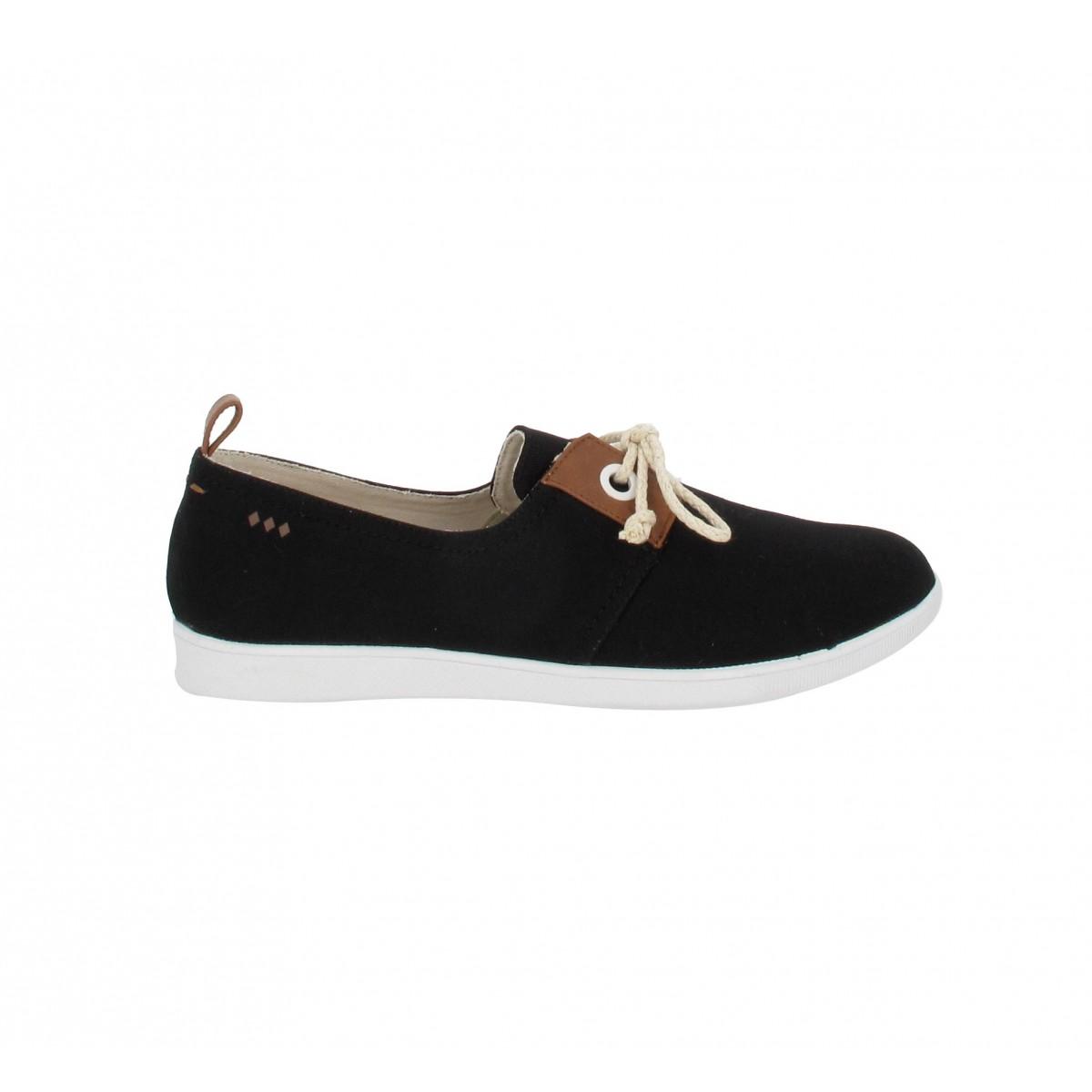 soldes armistice stone 1 toile femme noir fanny chaussures. Black Bedroom Furniture Sets. Home Design Ideas