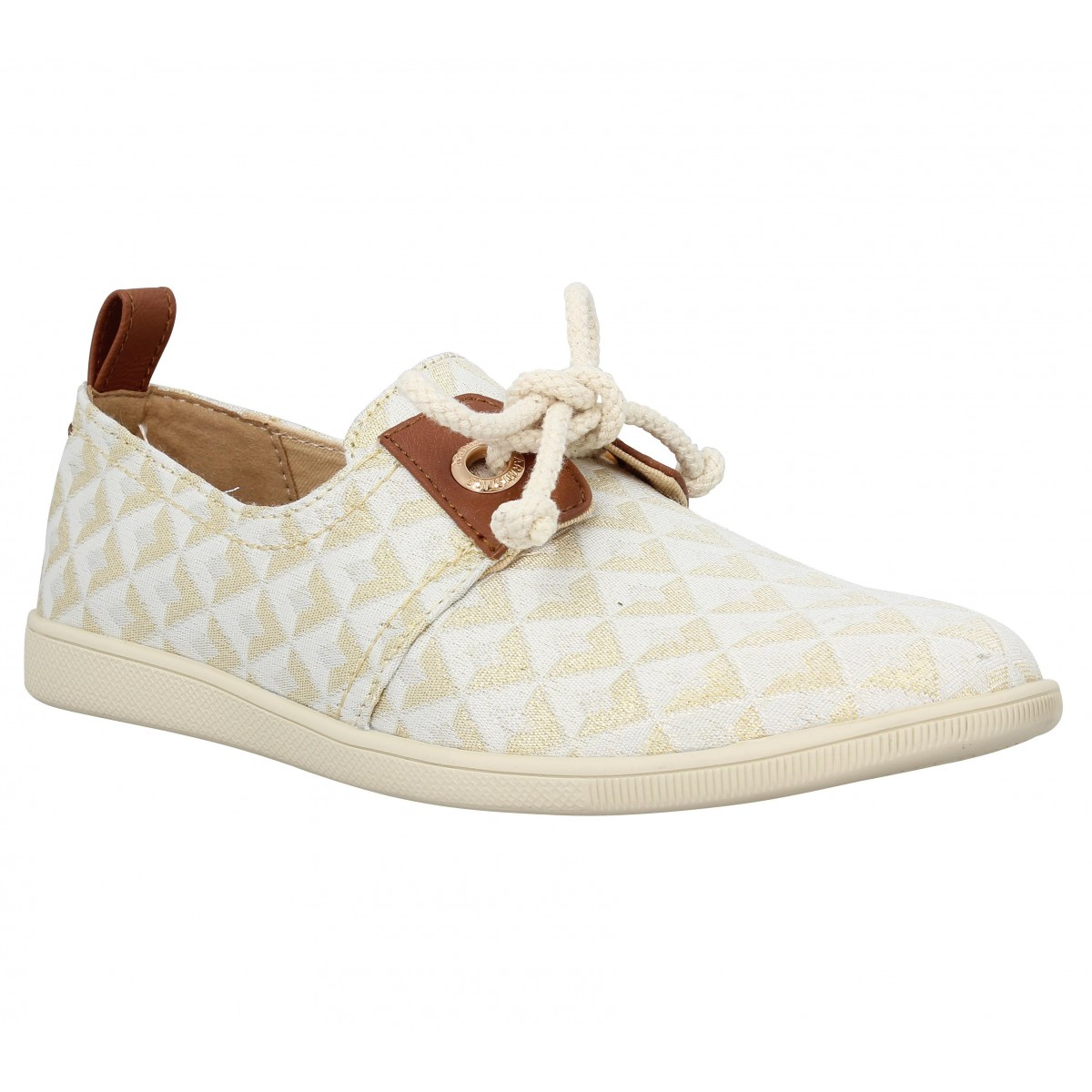 Baskets ARMISTICE Stone One flam Femme Or