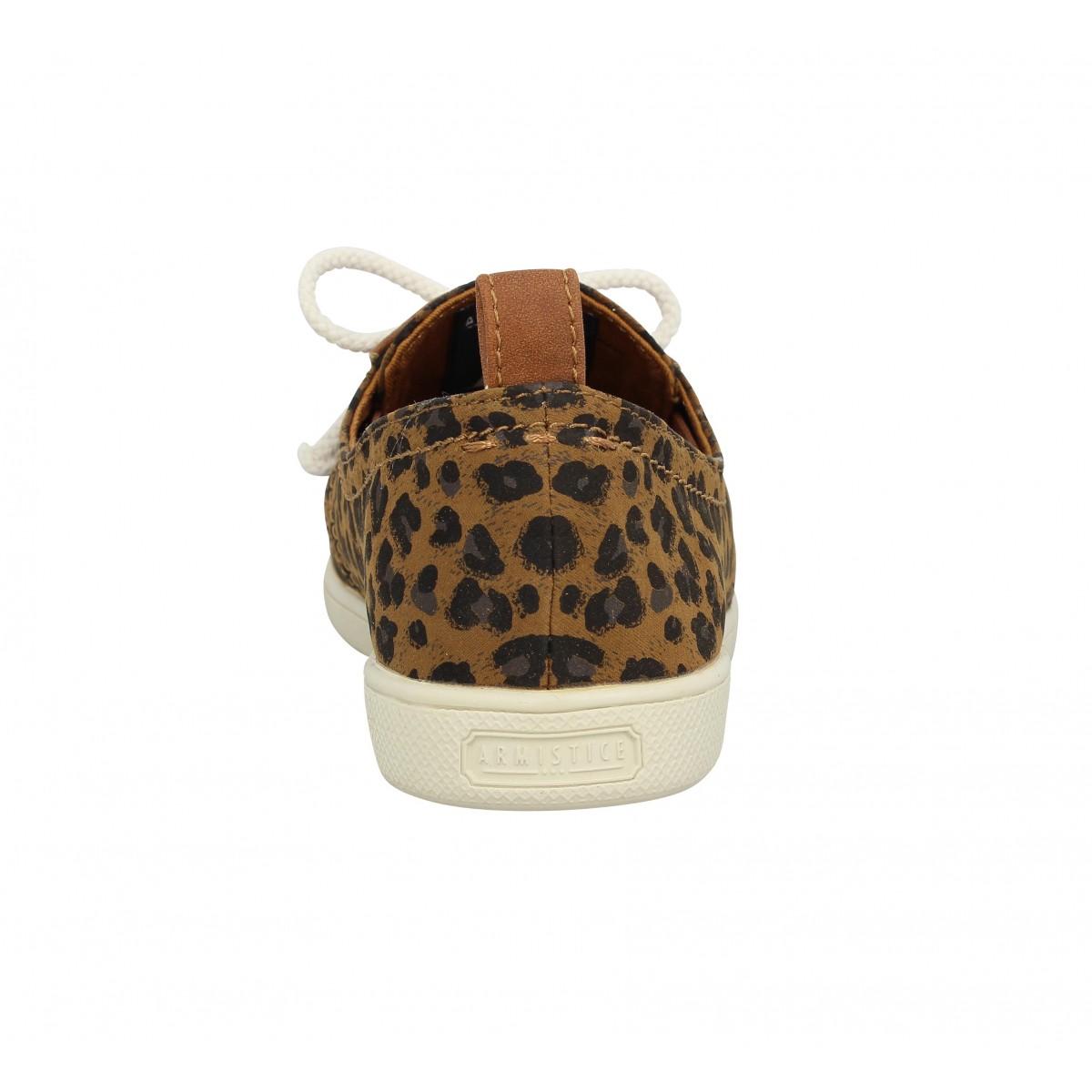 armistice stone one toile leopard femme camel femme fanny chaussures. Black Bedroom Furniture Sets. Home Design Ideas