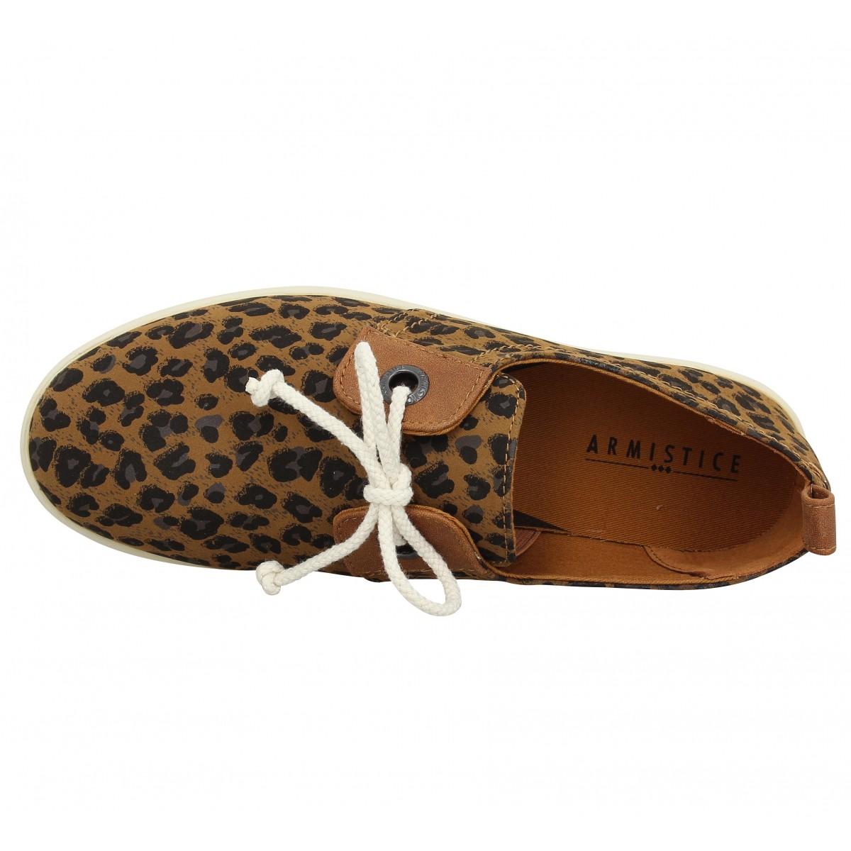 soldes armistice stone one toile leopard femme camel femme fanny chaussures. Black Bedroom Furniture Sets. Home Design Ideas
