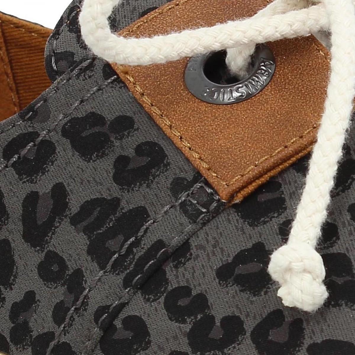 armistice stone one toile leopard femme gris femme fanny chaussures. Black Bedroom Furniture Sets. Home Design Ideas
