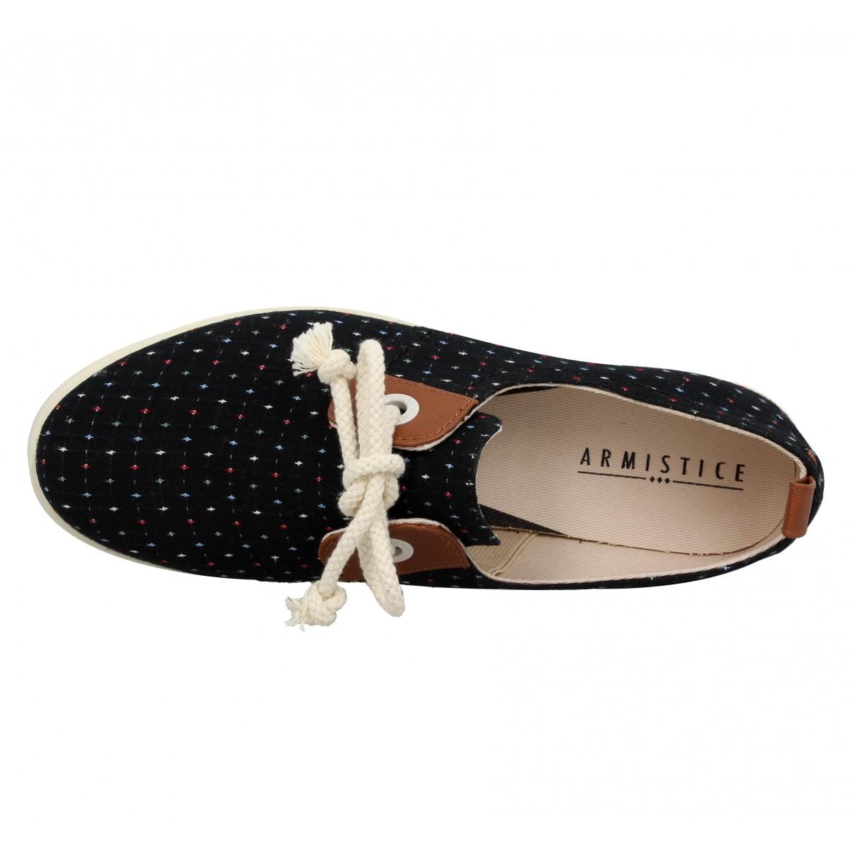 soldes armistice stone one toile sweet femme noir fanny chaussures. Black Bedroom Furniture Sets. Home Design Ideas