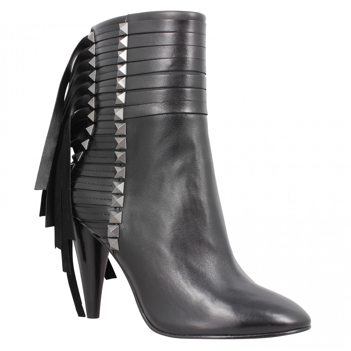 Bottines ASH Brave cuir Femme Noir
