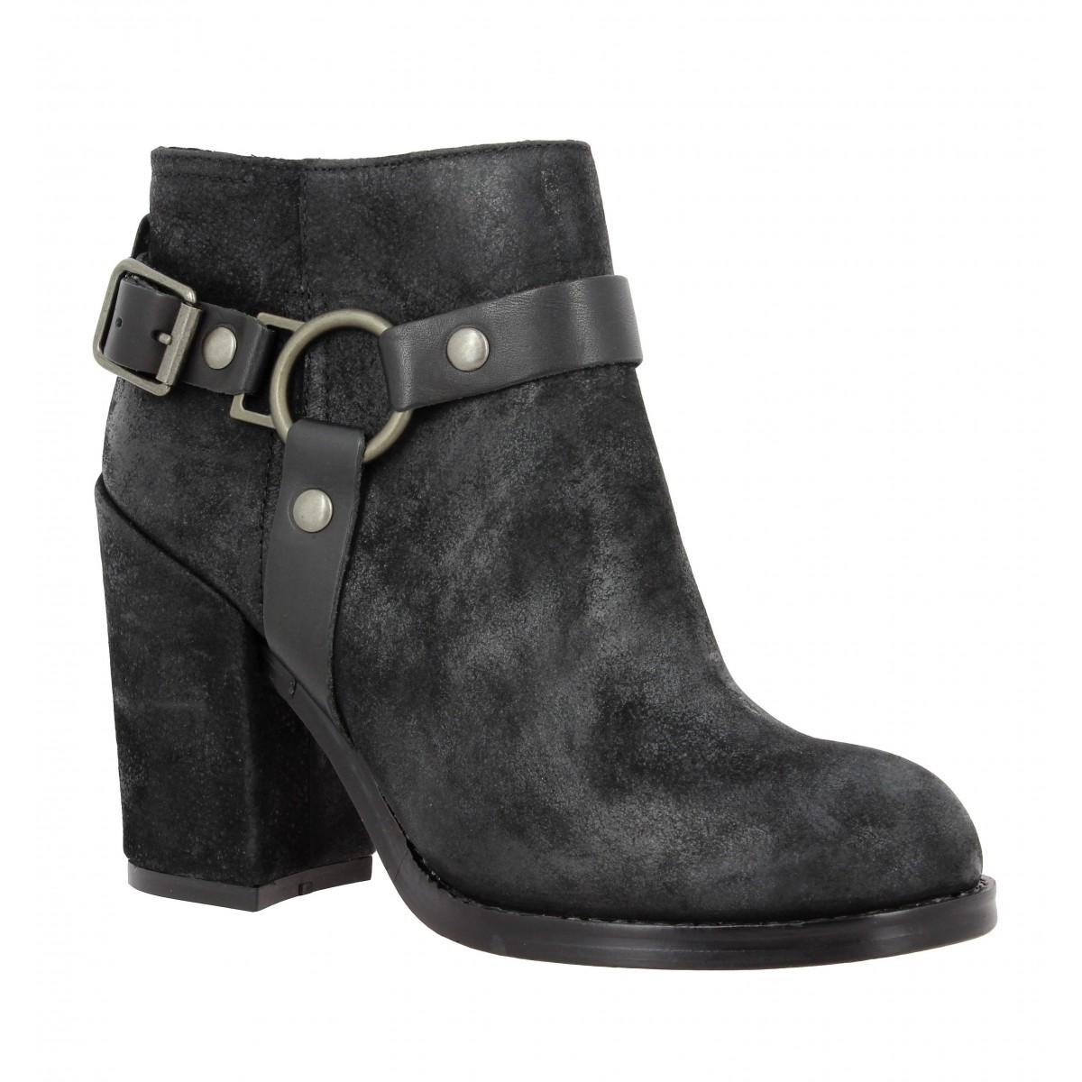 Velours Chaussures Falcon NoirFanny Ash Femme qSpUzMV