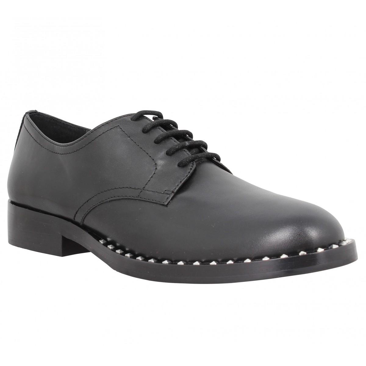 Chaussures à lacets ASH Wilco cuir Femme Noir