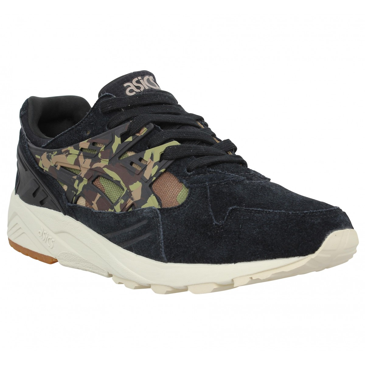 Baskets ASICS Gel Kayano Trainer Evo velours Homme Noir Olive