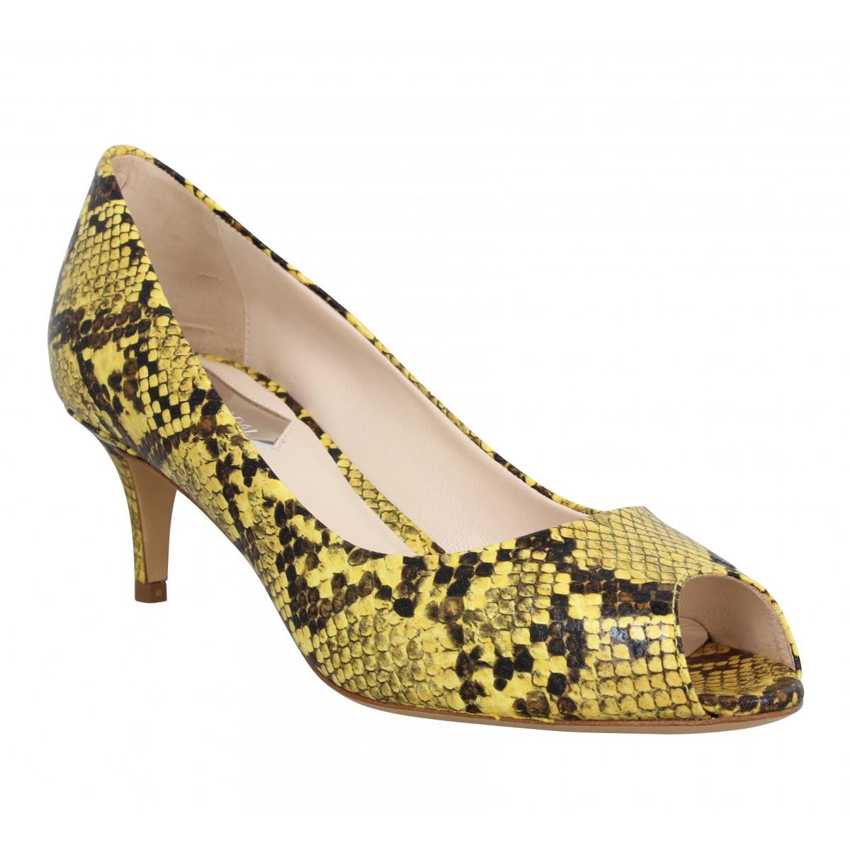 Sandales talons ATELIER MERCADAL 7020 python Femme Jaune