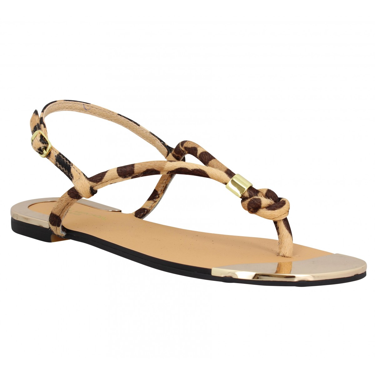 Nu-pieds ATELIER MERCADAL Plage pony Femme Panthere