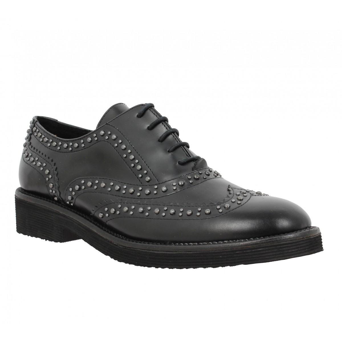 Chaussures à lacets B PRIVATE 0305 cuir Femme Noir