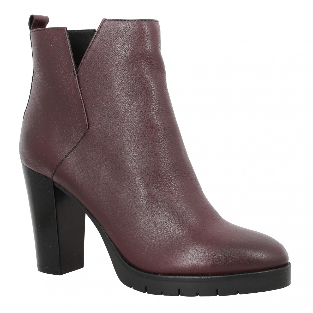 Bottines B PRIVATE 2001 Femme Bordeaux