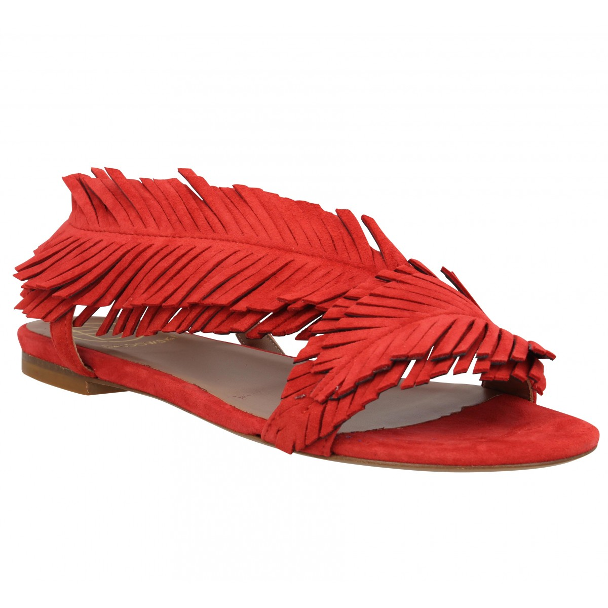 Nu-pieds BALDOWSKI 198 velours Femme Rouge