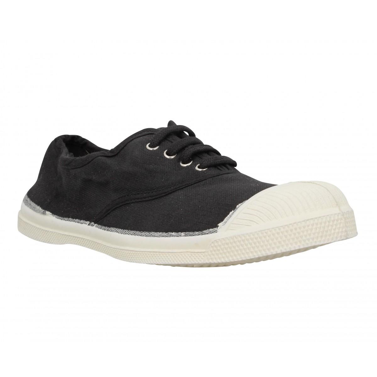 24236cf2682ffa Bensimon lacet toile femme carbone | Fanny chaussures