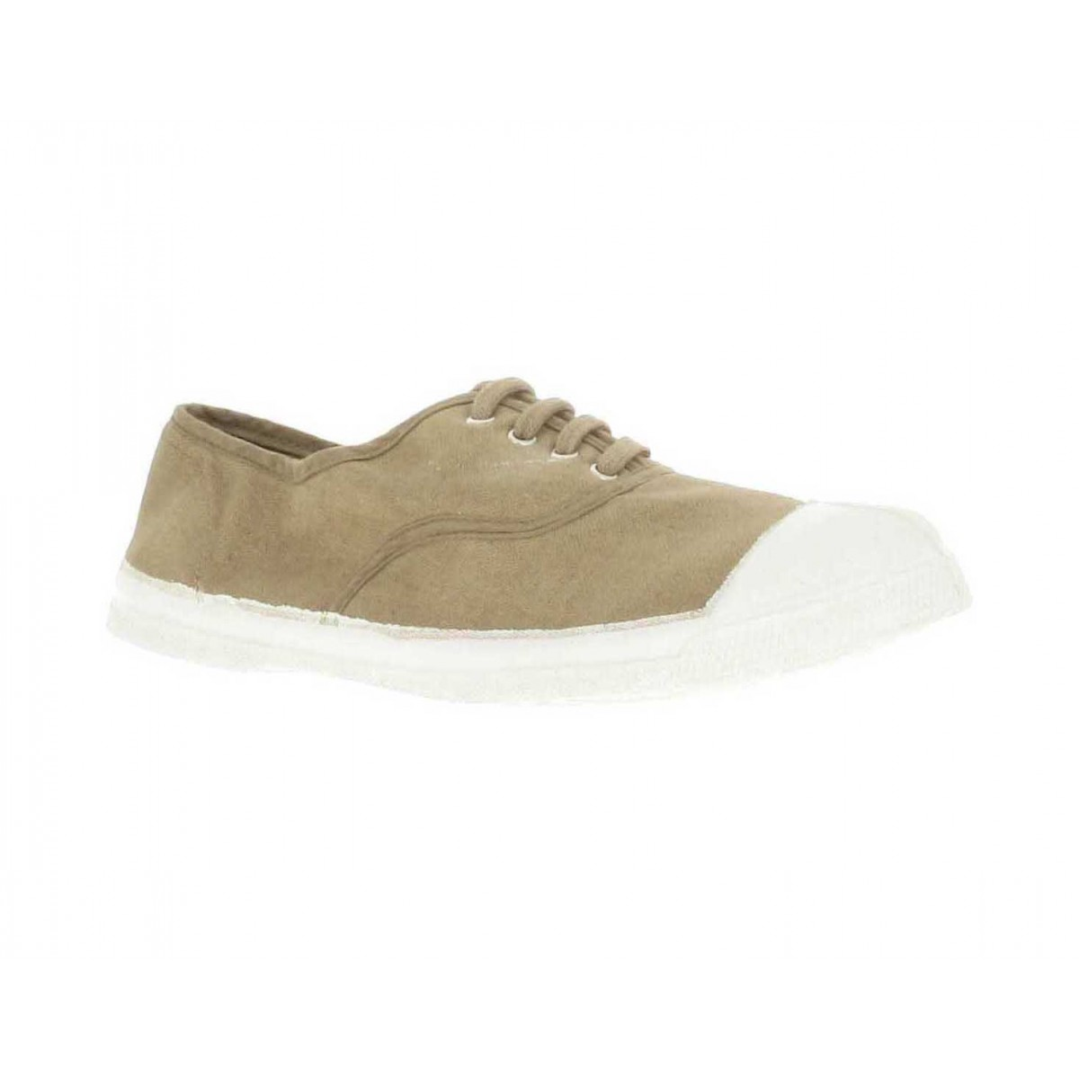 Baskets BENSIMON Lacet toile Femme Naturel