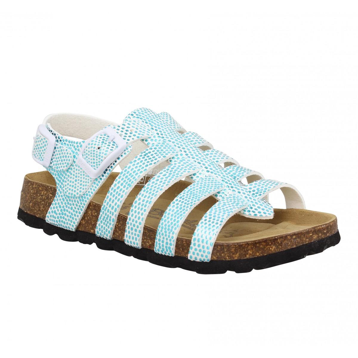Sandales BETULA Leona Birko Flor Enfant Turquoise