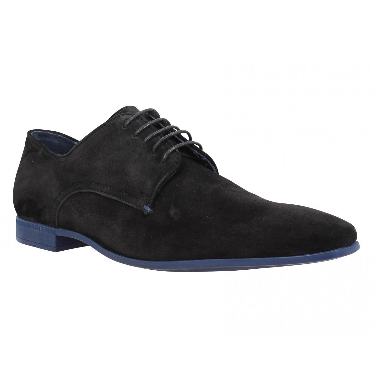 Chaussures à lacets BILLTORNADE Flirt velours Homme Noir