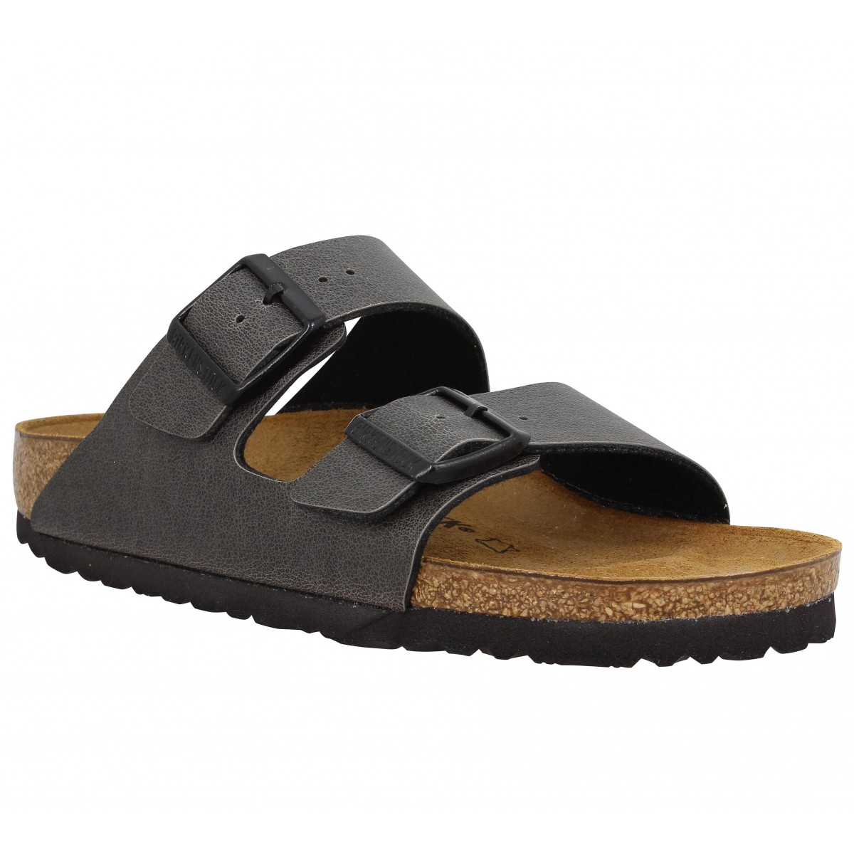 Mules BIRKENSTOCK Arizona Birko Flor Pull Up Femme Anthracite