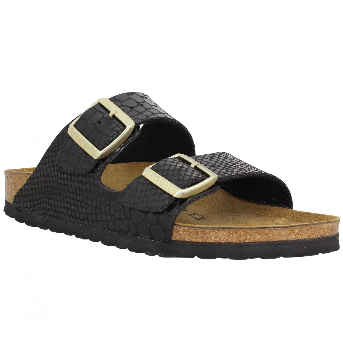 birkenstock arizona birko flor shiny snake femme noir femme fanny chaussures. Black Bedroom Furniture Sets. Home Design Ideas