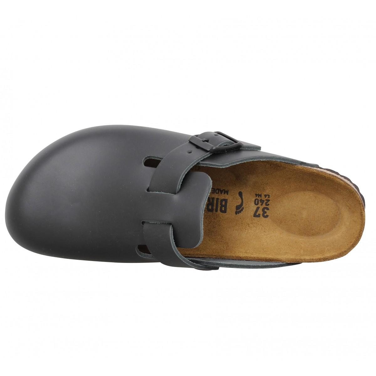 Birkenstock boston cuir homme noir homme | Fanny chaussures