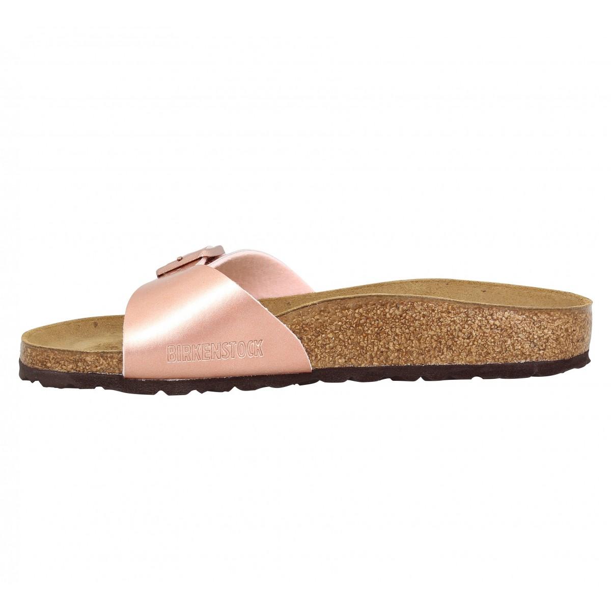 d08969e33629 Chaussures Birkenstock madrid birko flor soft met femme rose gold ...