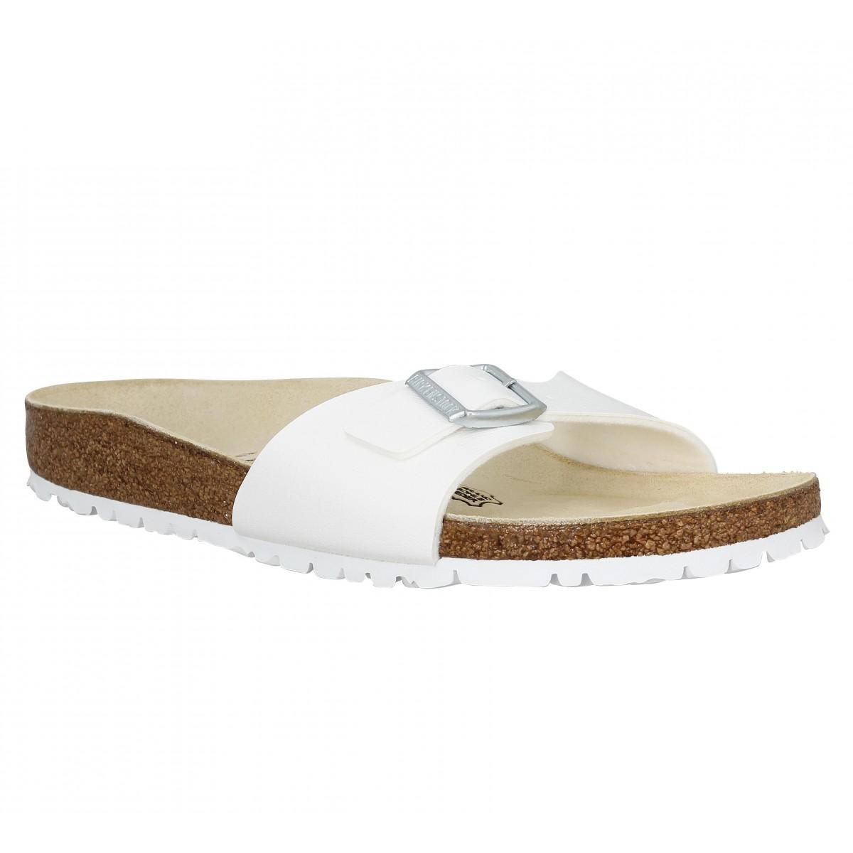 soldes birkenstock madrid birko flor femme blanc fanny chaussures. Black Bedroom Furniture Sets. Home Design Ideas
