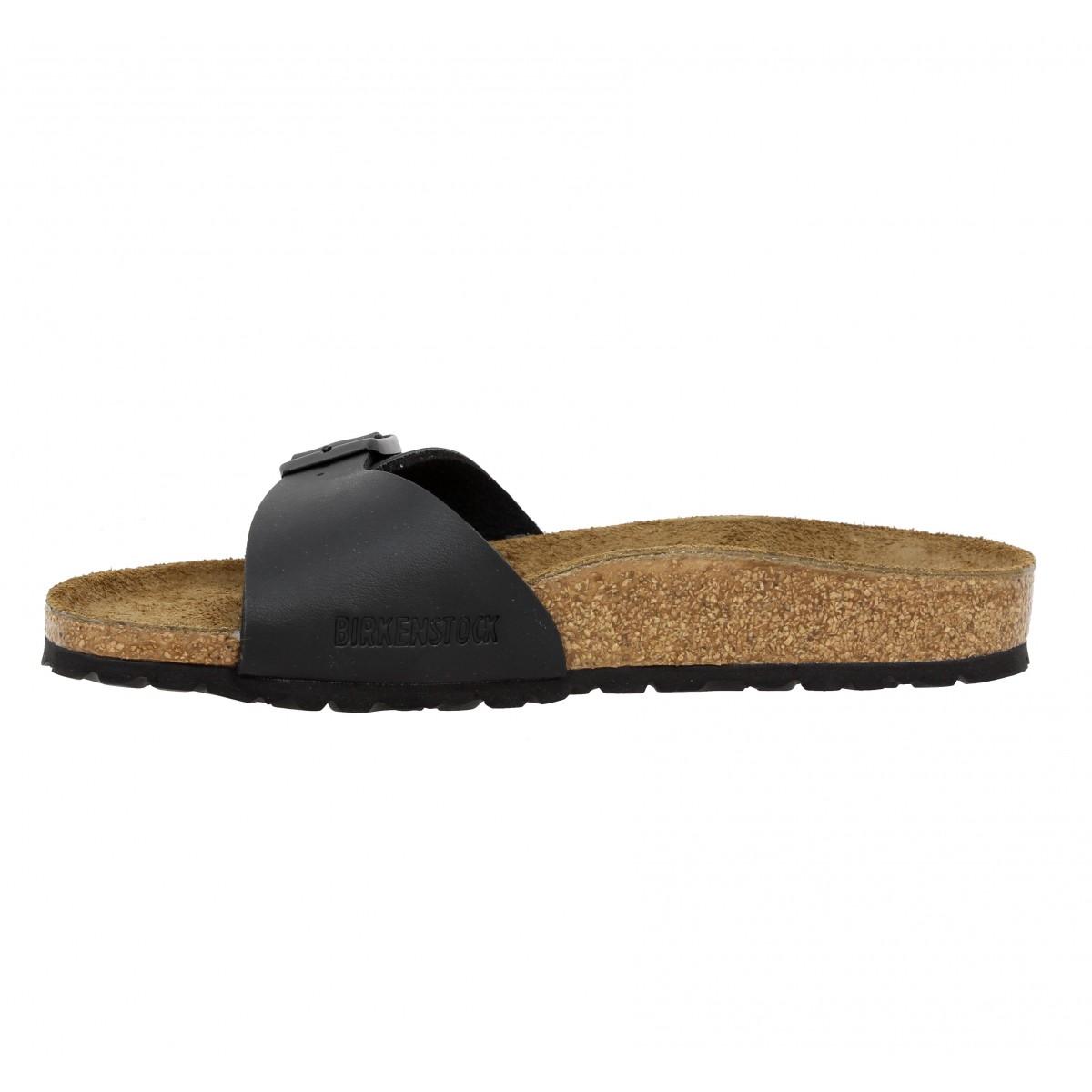soldes birkenstock madrid birko flor femme noir fanny chaussures. Black Bedroom Furniture Sets. Home Design Ideas