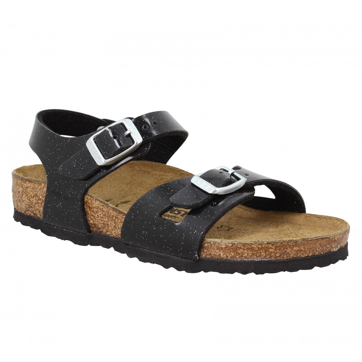 Sandales BIRKENSTOCK Rio Birko Flor Magic Enfant Galaxy Black