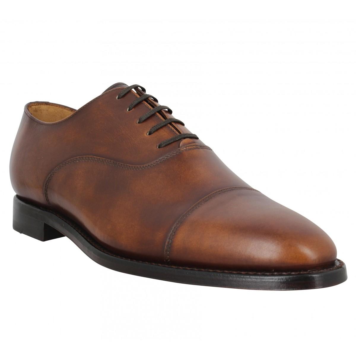 Chaussures à lacets BOBBIES Jean Coltrane cuir Homme Chataigne