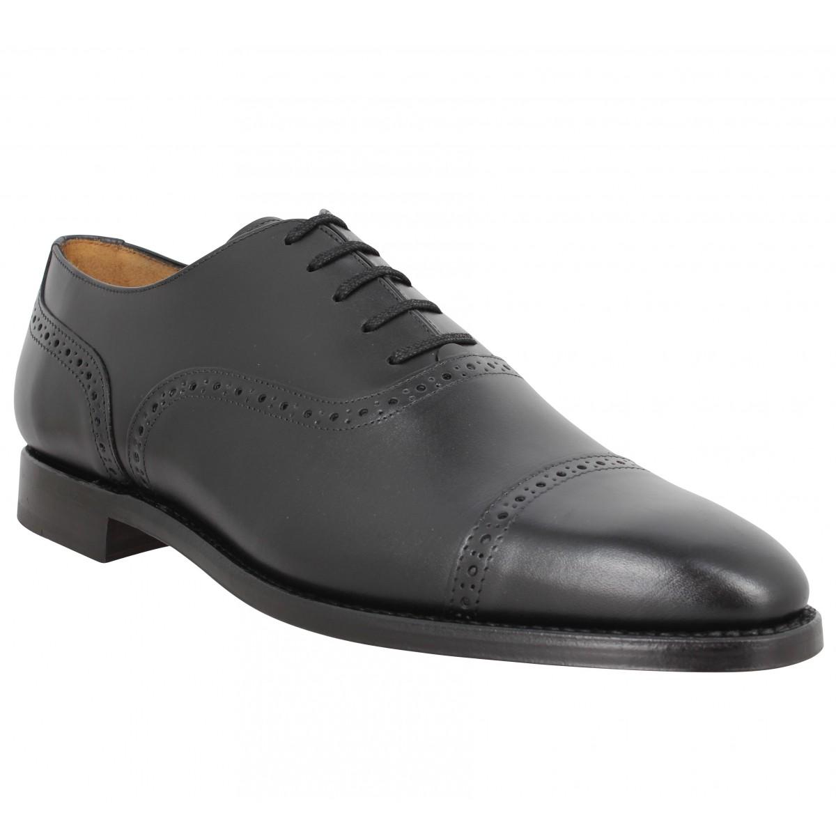 Chaussures à lacets BOBBIES Jean Lennon cuir Homme Noir