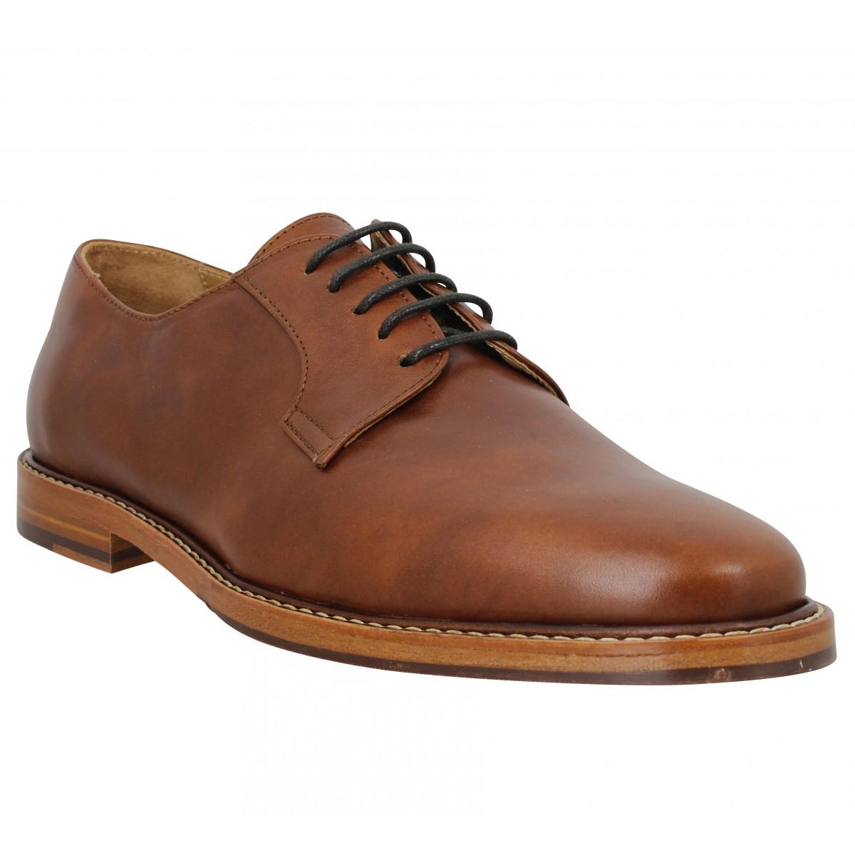 Chaussures à lacets BOBBIES L'Admirateur cuir Homme Cognac