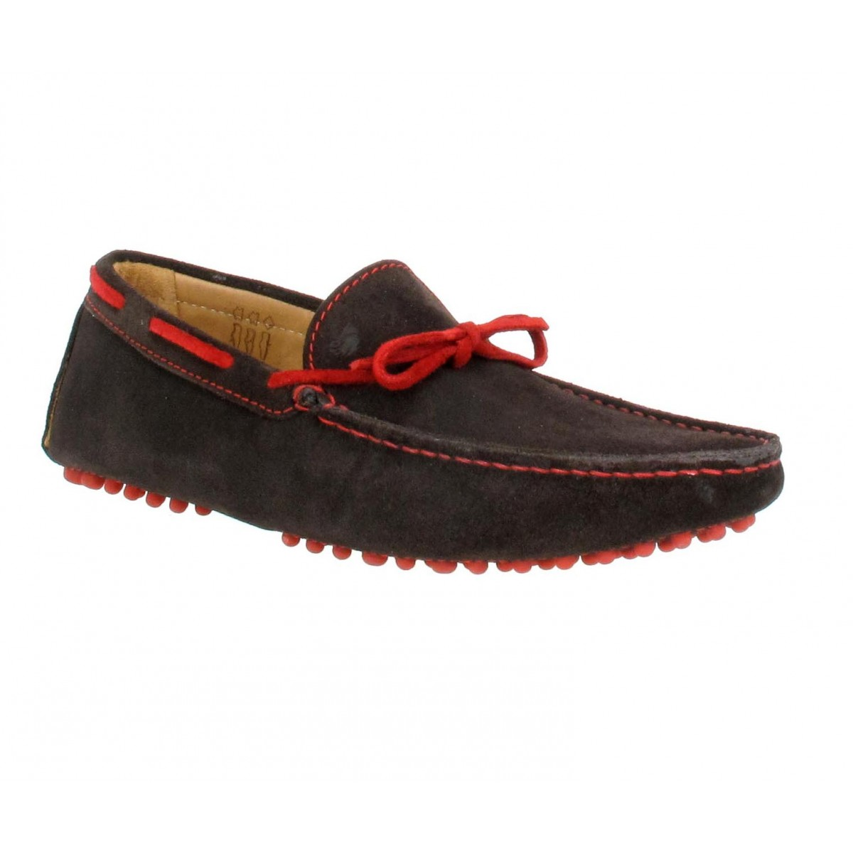 Mocassins BOBBIES L'Artiste velours Homme Cafe