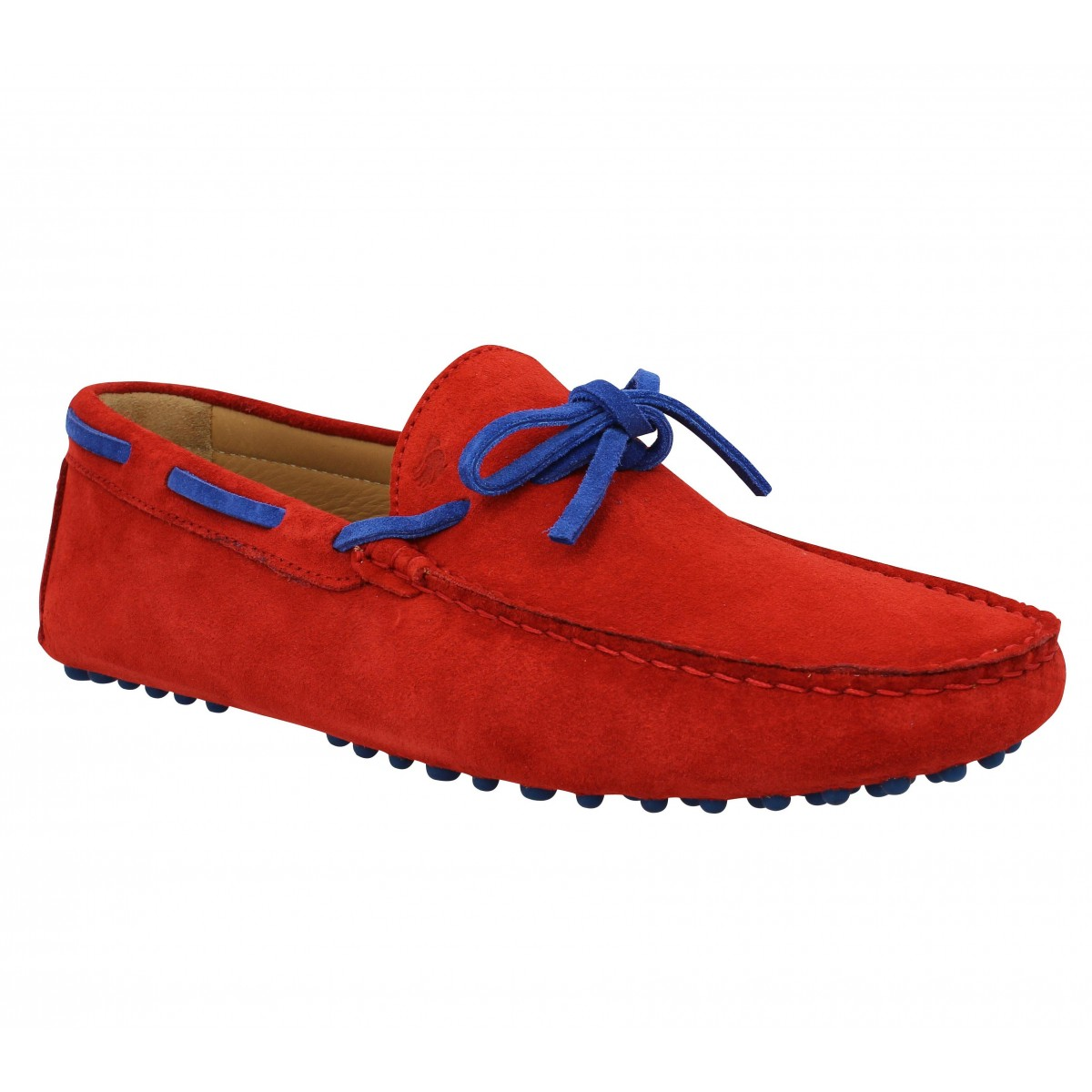 Mocassins BOBBIES L'Artiste velours Homme Orange