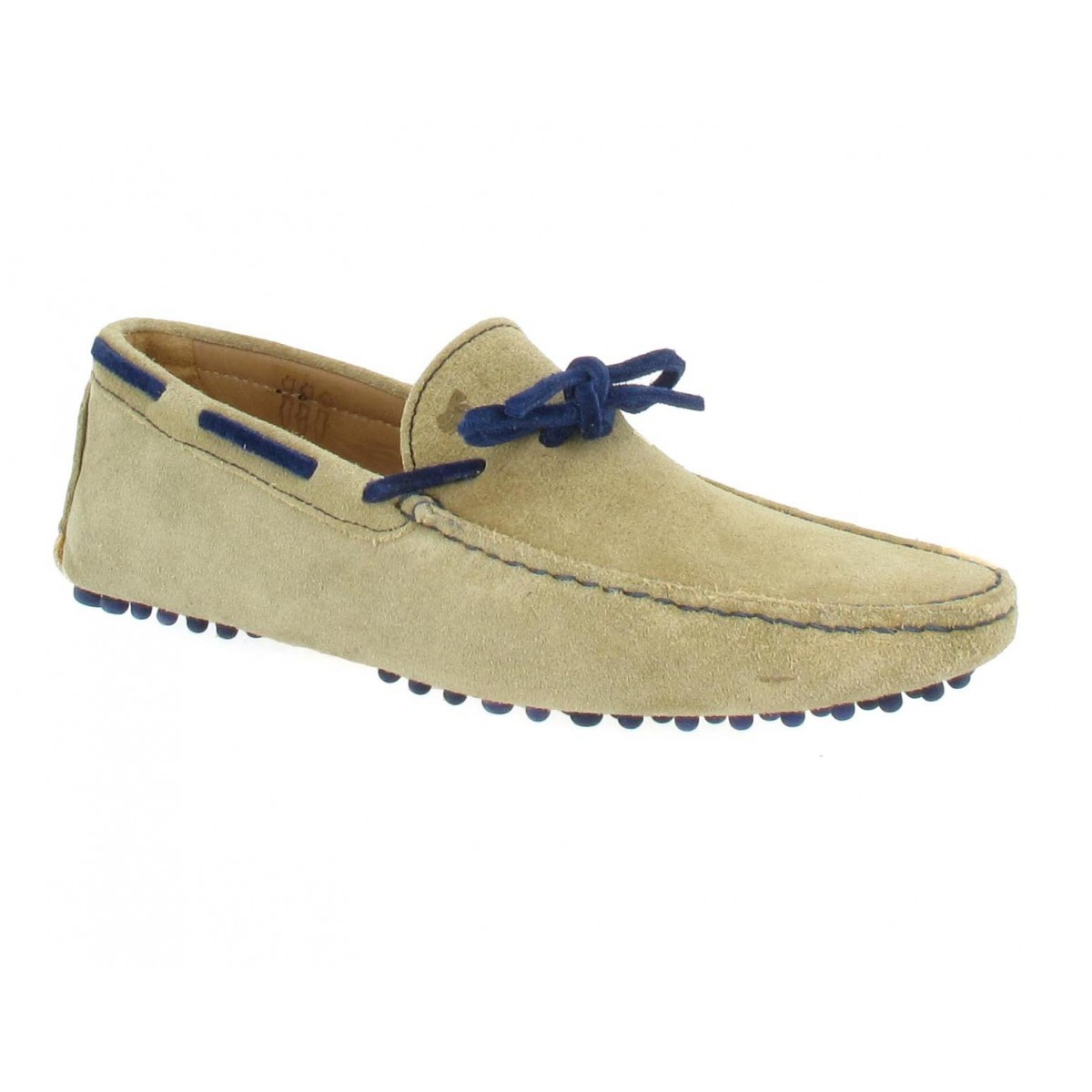 Mocassins BOBBIES L'Artiste velours Homme Sable