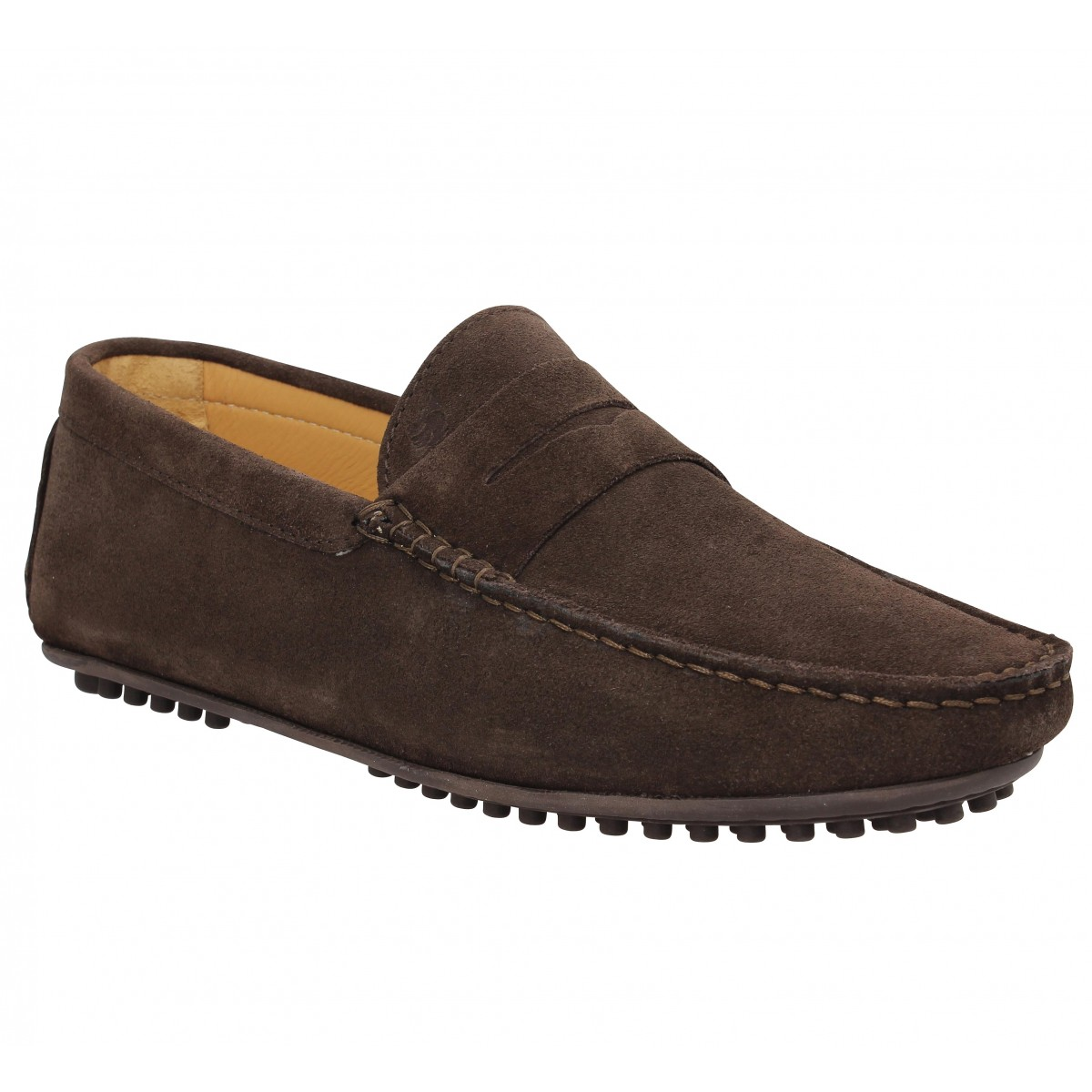 Mocassins BOBBIES L'Elegant SP velours Homme Marron
