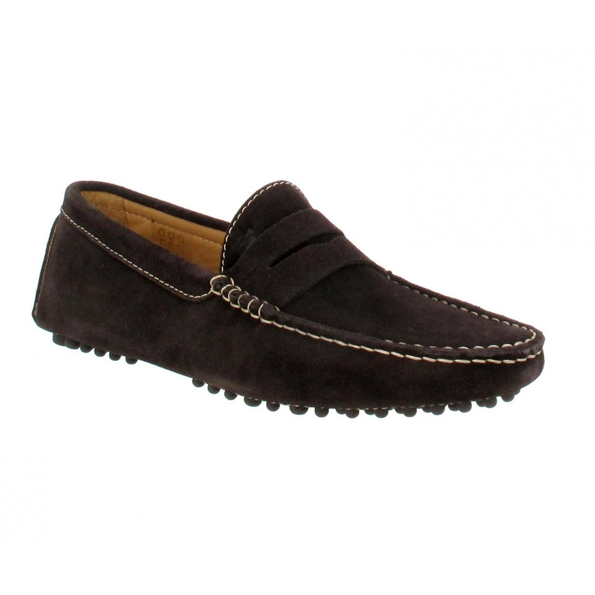 Mocassins BOBBIES L'Elegant velours Homme Cafe