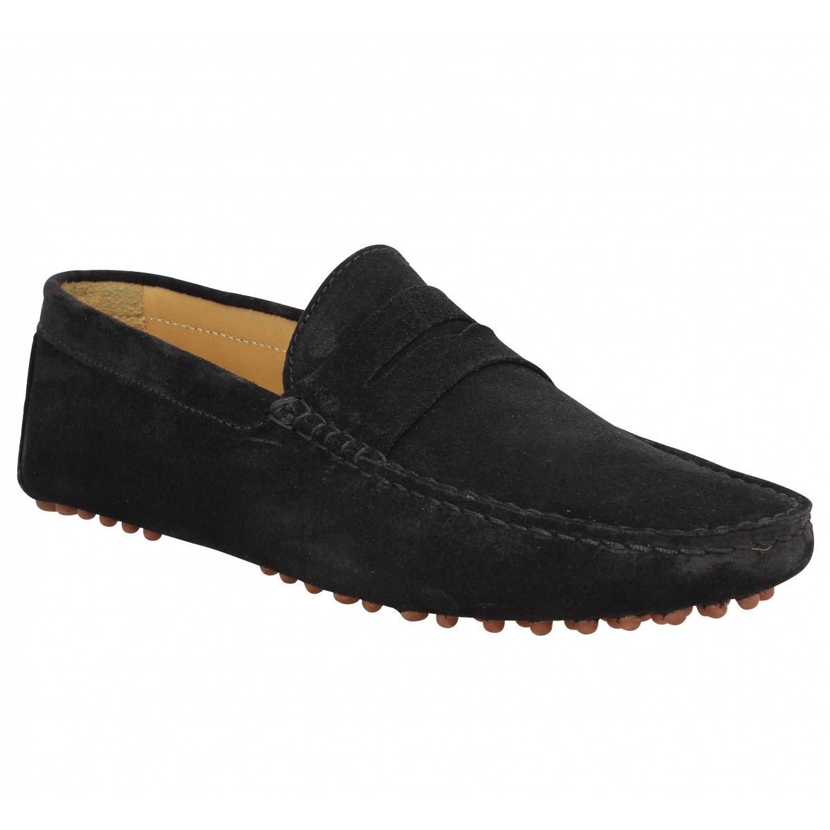 Mocassins BOBBIES L'Elegant velours Homme Noir