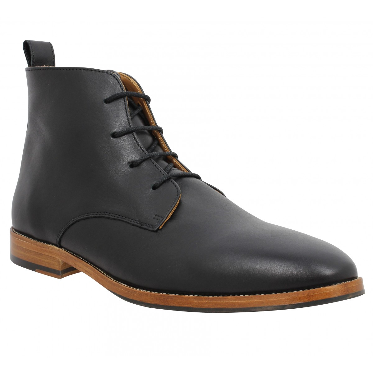 Bottines BOBBIES L'Explorateur cuir Homme Noir