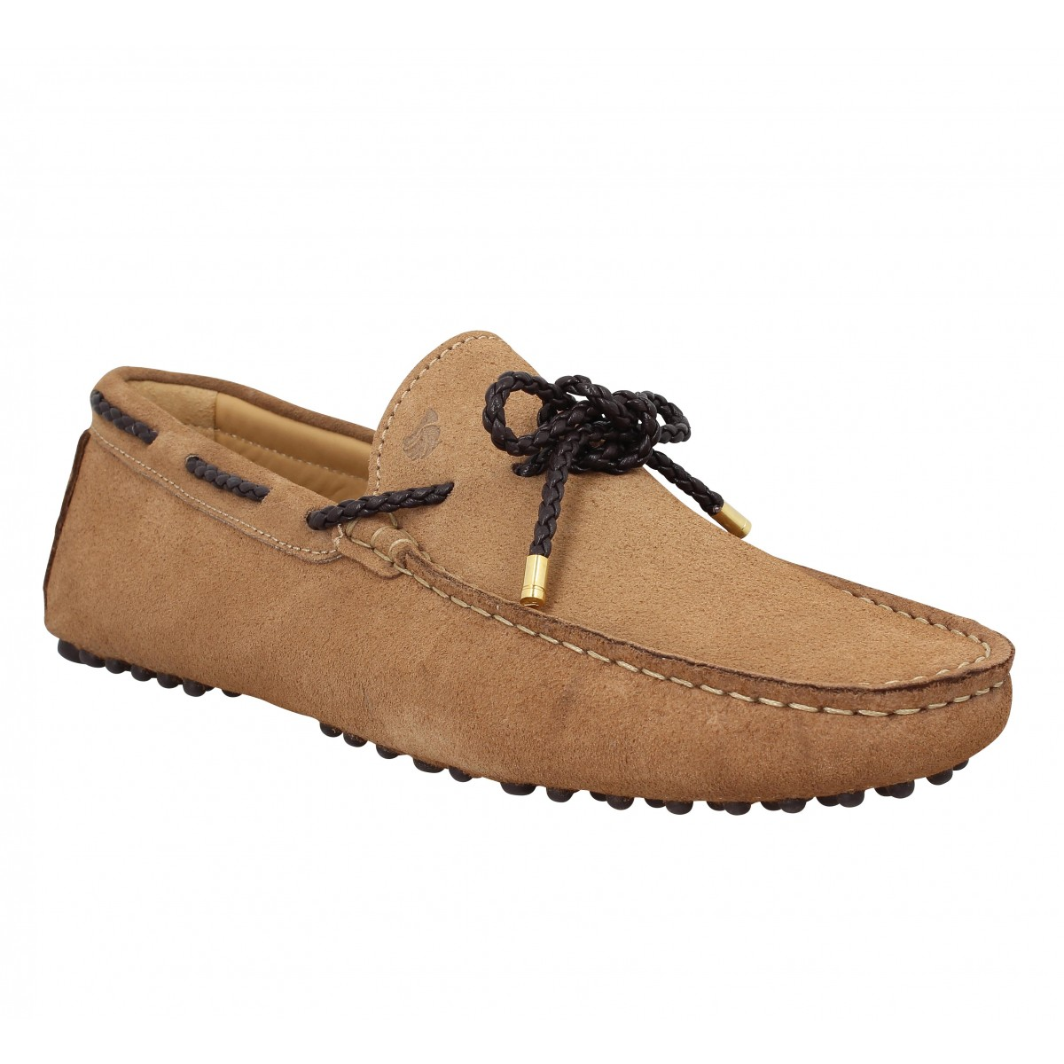 Mocassins BOBBIES L'Orfevre velours Homme Antilope