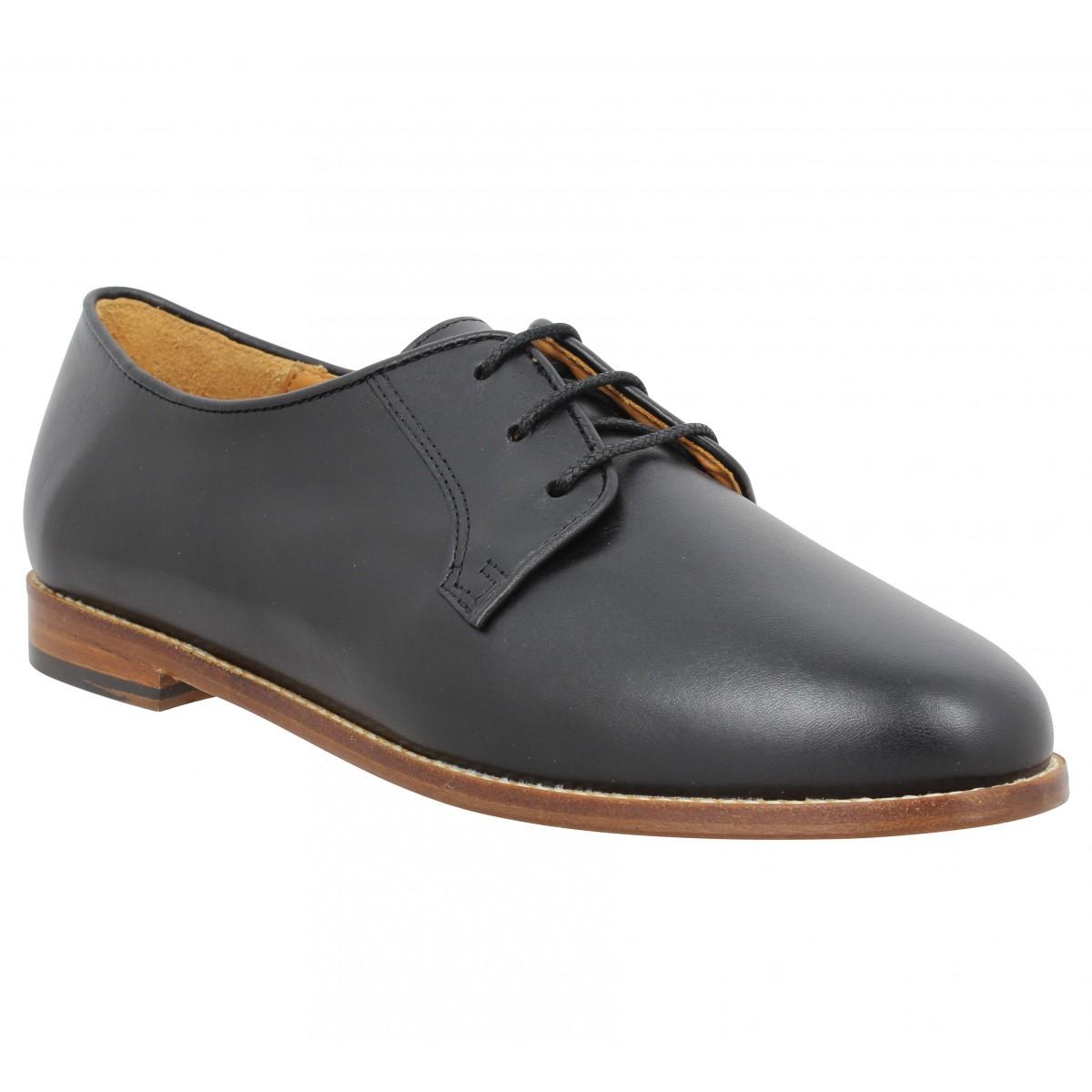 Chaussures à lacets BOBBIES La Cineaste cuir Femme Noir