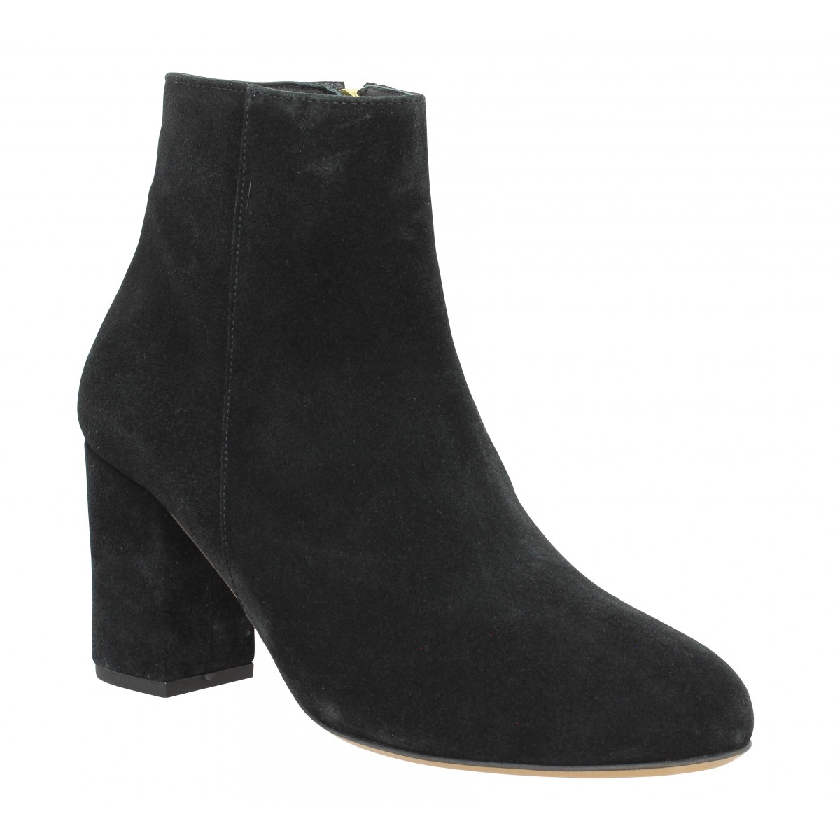 Bottines BOBBIES La Divine velours Femme Noir
