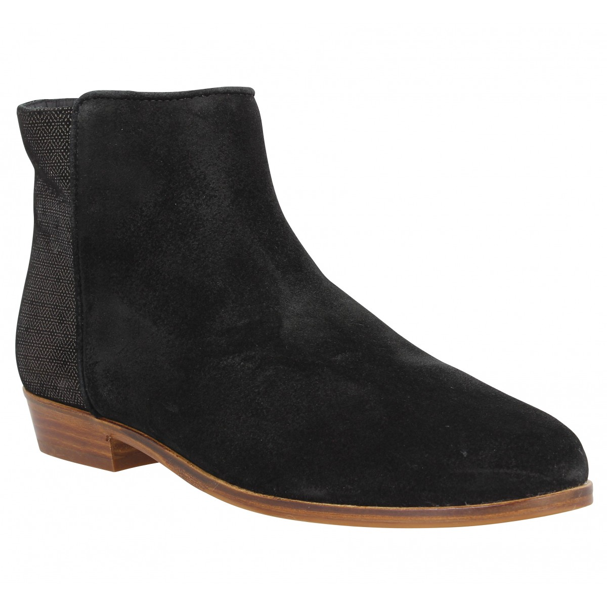 Bottines BOBBIES La Fascinee velours Femme Noir