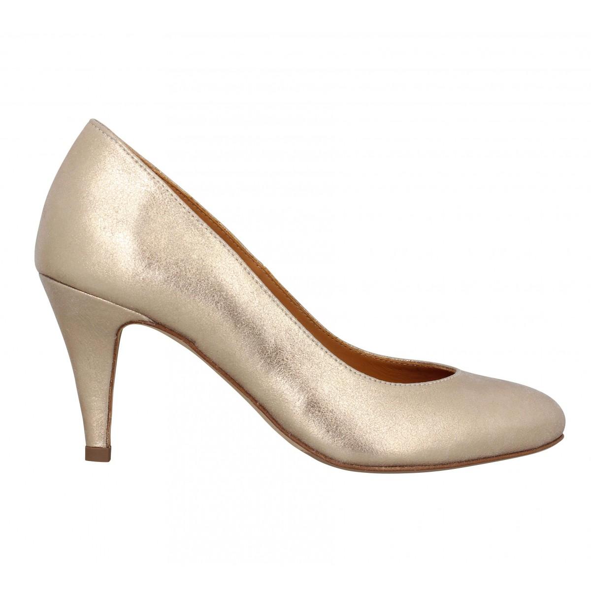 La Cuir Femme Fanny Chaussures Flatteuse Bobbies Or 8qSEBw8d