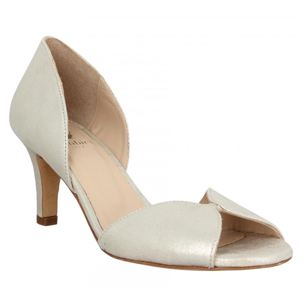 Sandales talons BOBBIES La Secrete cuir Femme Or