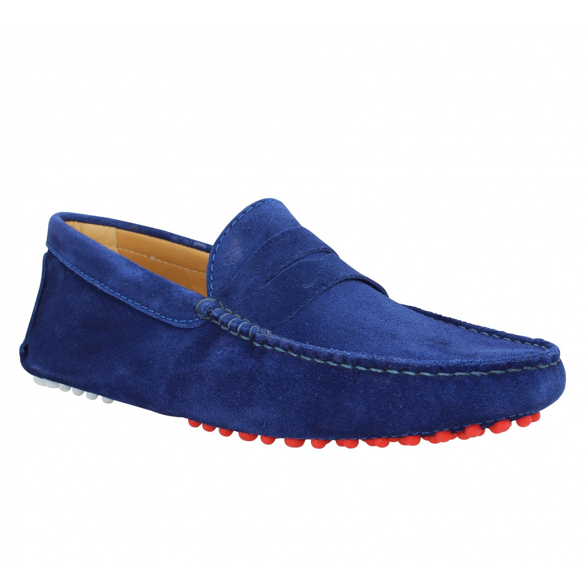 Mocassins BOBBIES Le Jocker velours Homme Bleu Nuit
