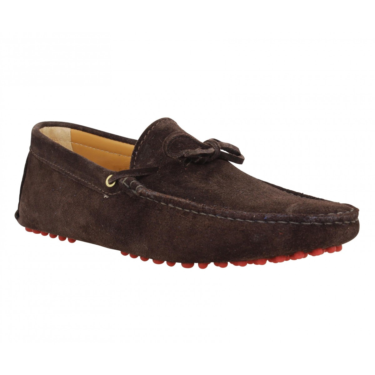 Mocassins BOBBIES Le Magnifique velours Homme Marron